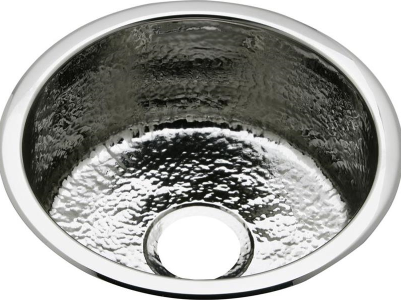 Elkay Stainless Steel 16-3/8x16-3/8x7 Single Bowl Dual Mount - Hammered Mirror